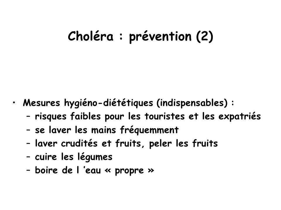 Choléra : prévention (2)