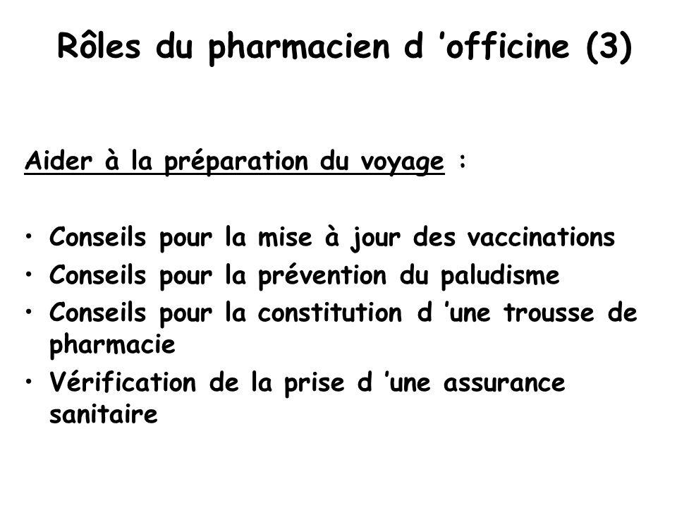 Rôles du pharmacien d 'officine (3)