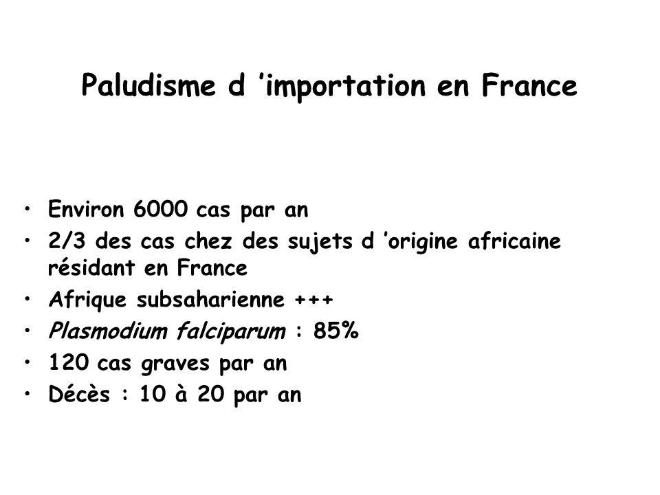 Paludisme d 'importation en France