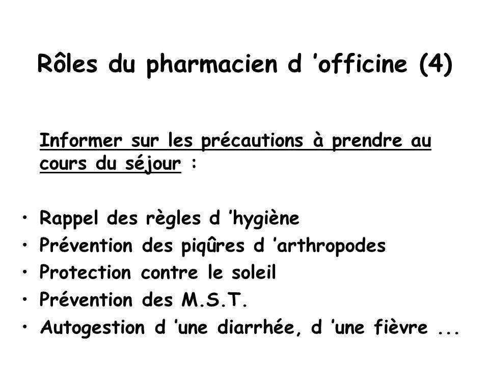 Rôles du pharmacien d 'officine (4)