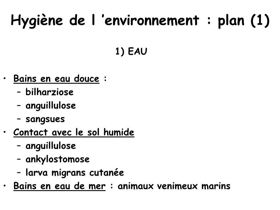 Hygiène de l 'environnement : plan (1)