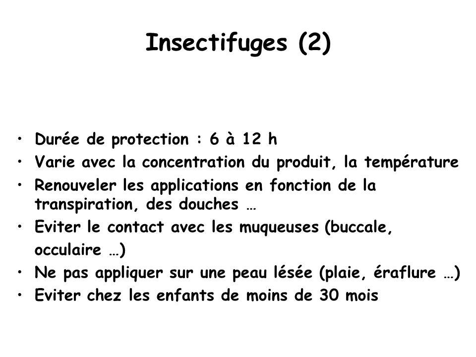 Insectifuges (2) Durée de protection : 6 à 12 h