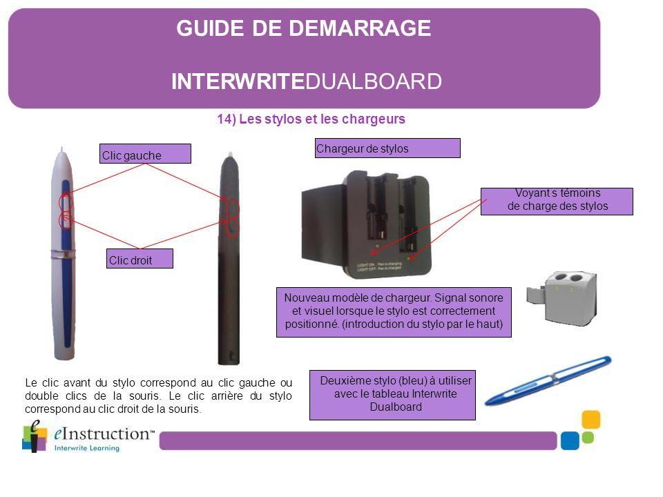 14) Les stylos et les chargeurs