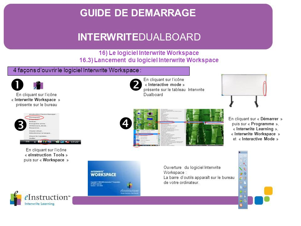     GUIDE DE DEMARRAGE INTERWRITEDUALBOARD