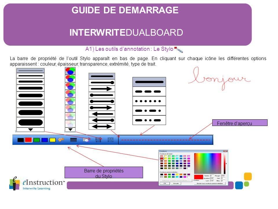 A1) Les outils d'annotation : Le Stylo
