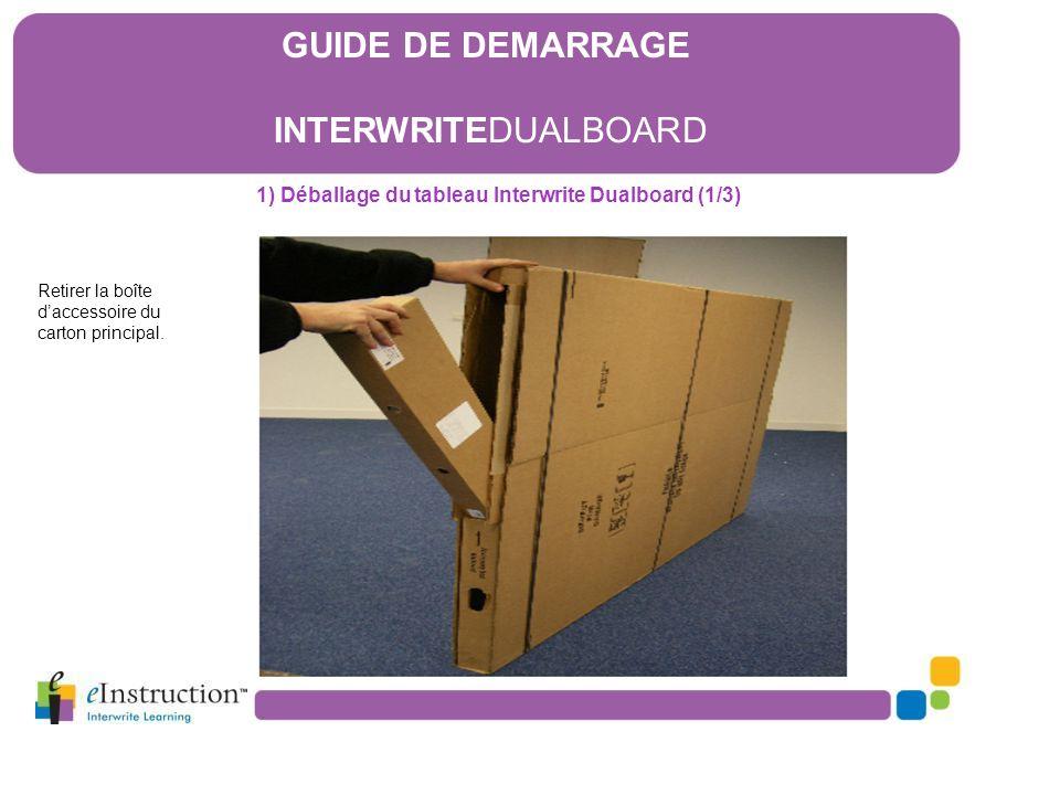 1) Déballage du tableau Interwrite Dualboard (1/3)