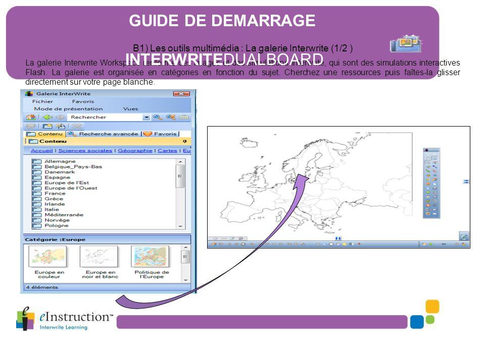 B1) Les outils multimédia : La galerie Interwrite (1/2 )