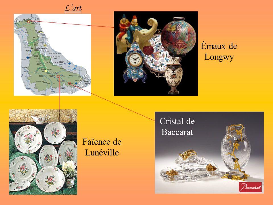 L'art Émaux de Longwy Cristal de Baccarat Faïence de Lunéville