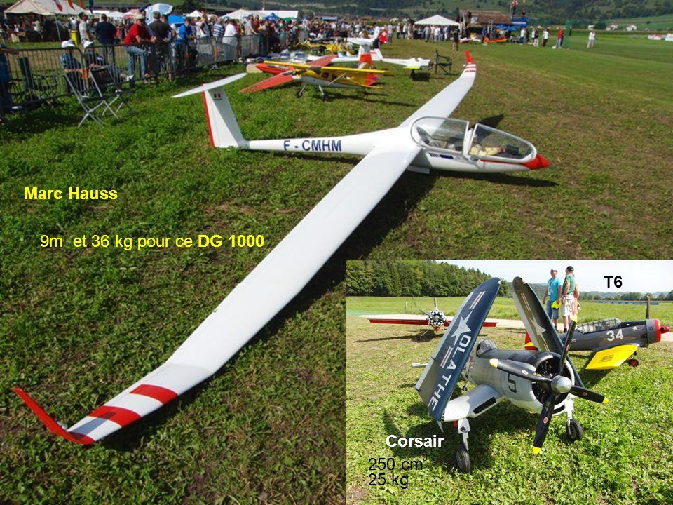 Marc Hauss 9m et 36 kg pour ce DG 1000 T6 Corsair 250 cm 3 25 kg