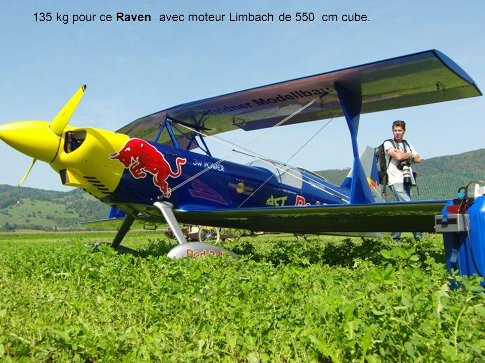 135 kg pour ce Raven avec moteur Limbach de 550 cm cube.
