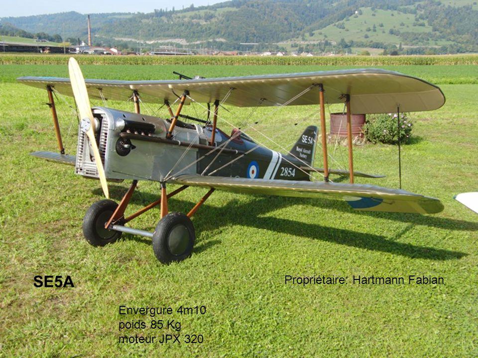 SE5A Propriétaire: Hartmann Fabian Envergure 4m10 poids 85 Kg