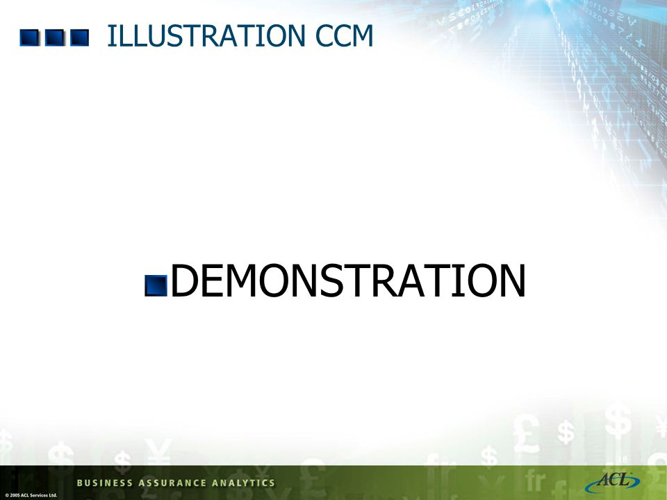 ILLUSTRATION CCM DEMONSTRATION