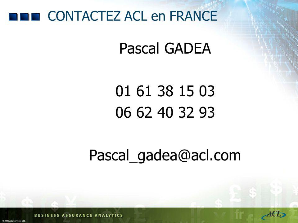 CONTACTEZ ACL en FRANCE