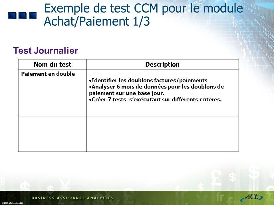Exemple de test CCM pour le module Achat/Paiement 1/3