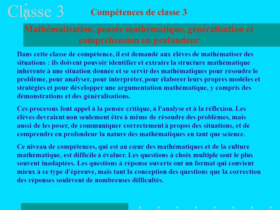 Classe 3 Compétences de classe 3