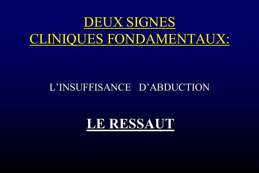 DEUX SIGNES CLINIQUES FONDAMENTAUX: