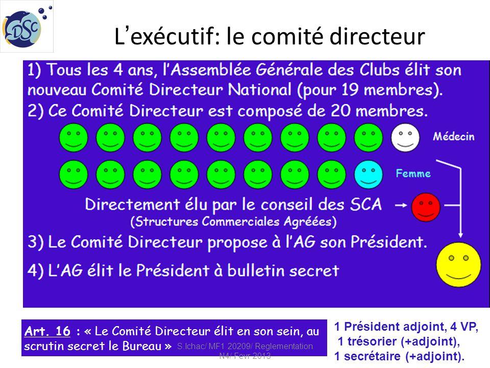 L'exécutif: le comité directeur