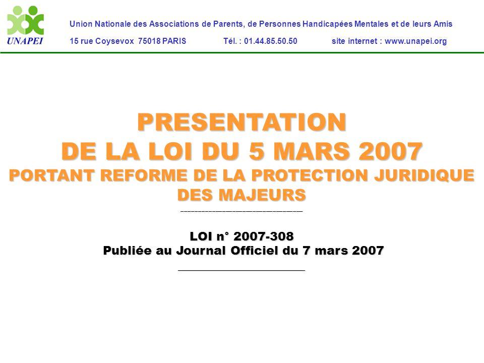 PRESENTATION DE LA LOI DU 5 MARS 2007