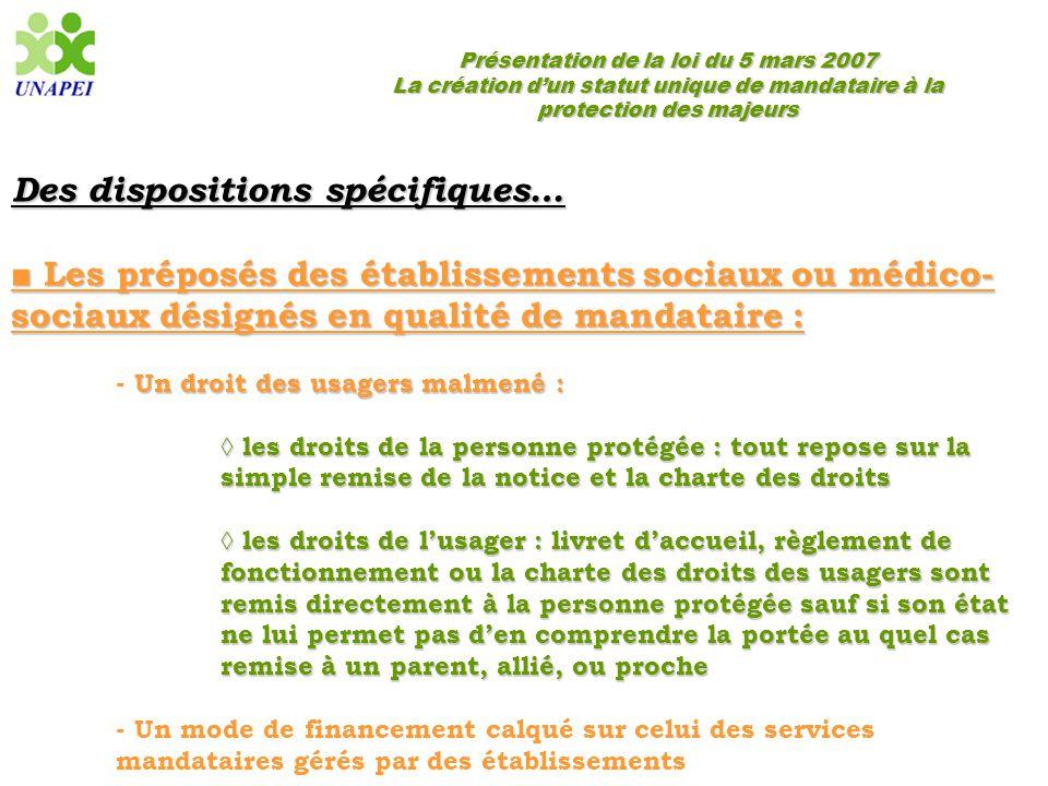 Présentation de la loi du 5 mars 2007