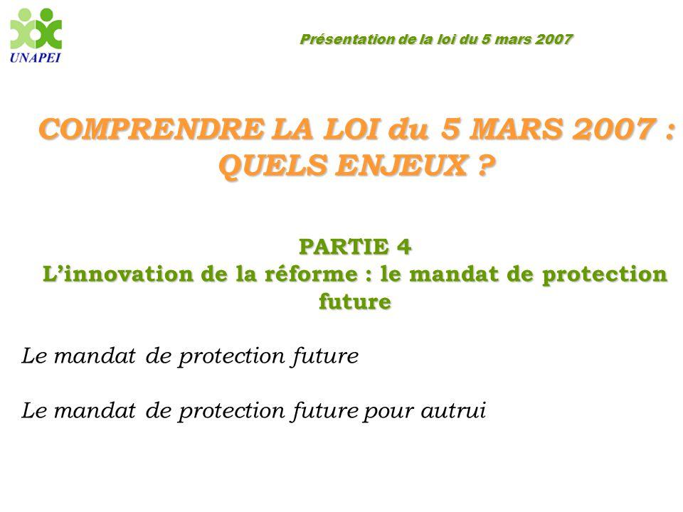 COMPRENDRE LA LOI du 5 MARS 2007 : QUELS ENJEUX