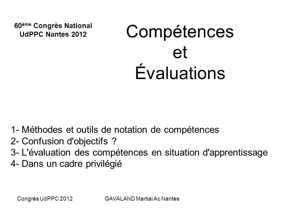 Compétences et Évaluations