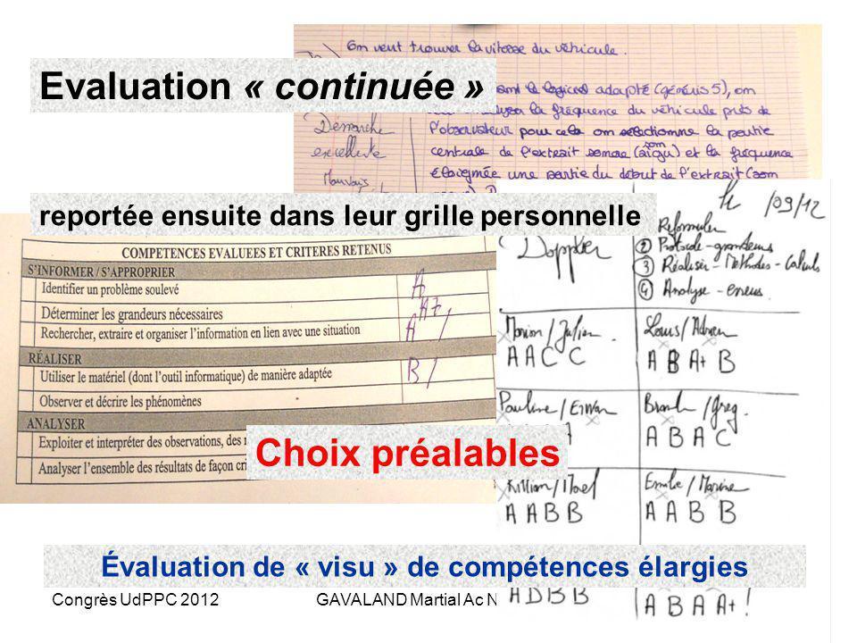 Evaluation « continuée »