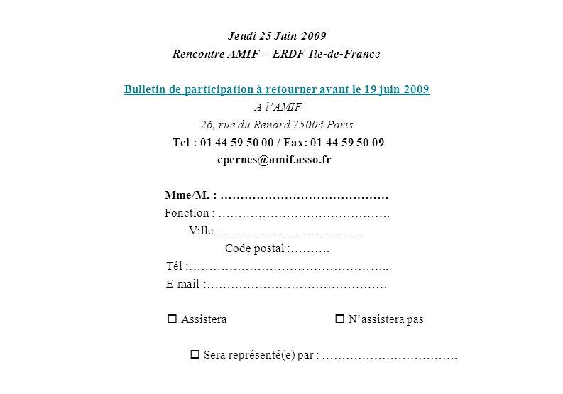 Rencontre AMIF – ERDF Ile-de-France