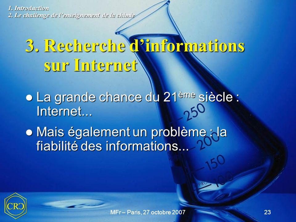 3. Recherche d'informations sur Internet