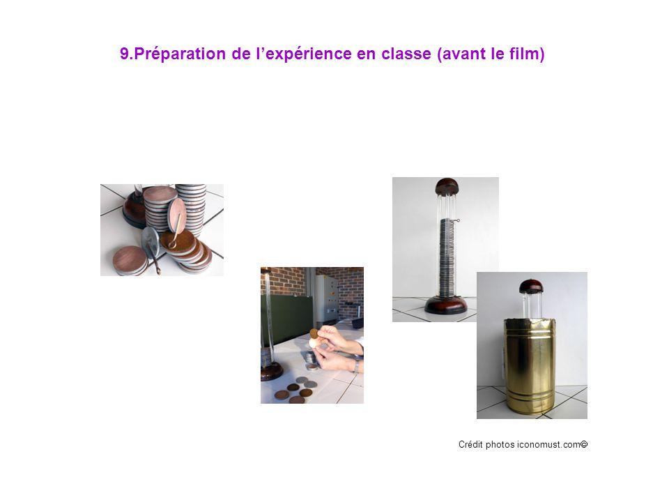 9.Préparation de l'expérience en classe (avant le film)
