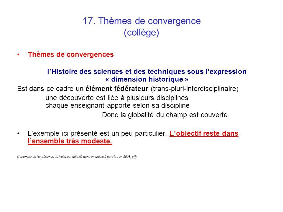 17. Thèmes de convergence (collège)