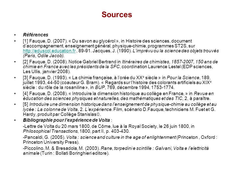 Sources Références.