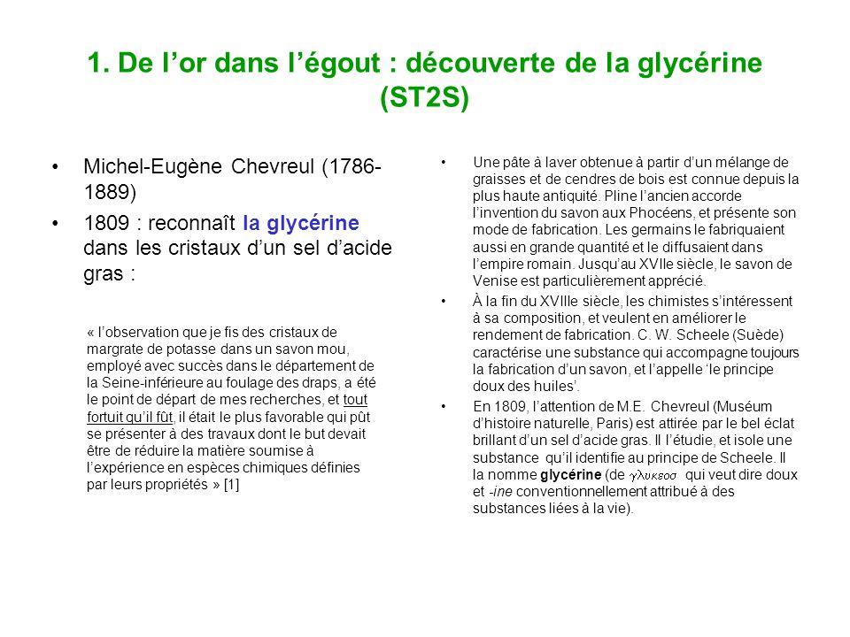 1. De l'or dans l'égout : découverte de la glycérine (ST2S)