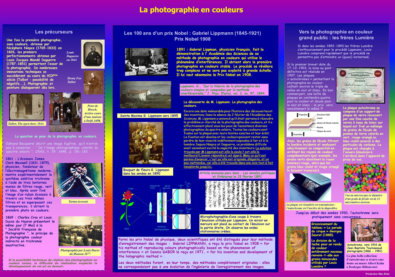 La photographie en couleurs
