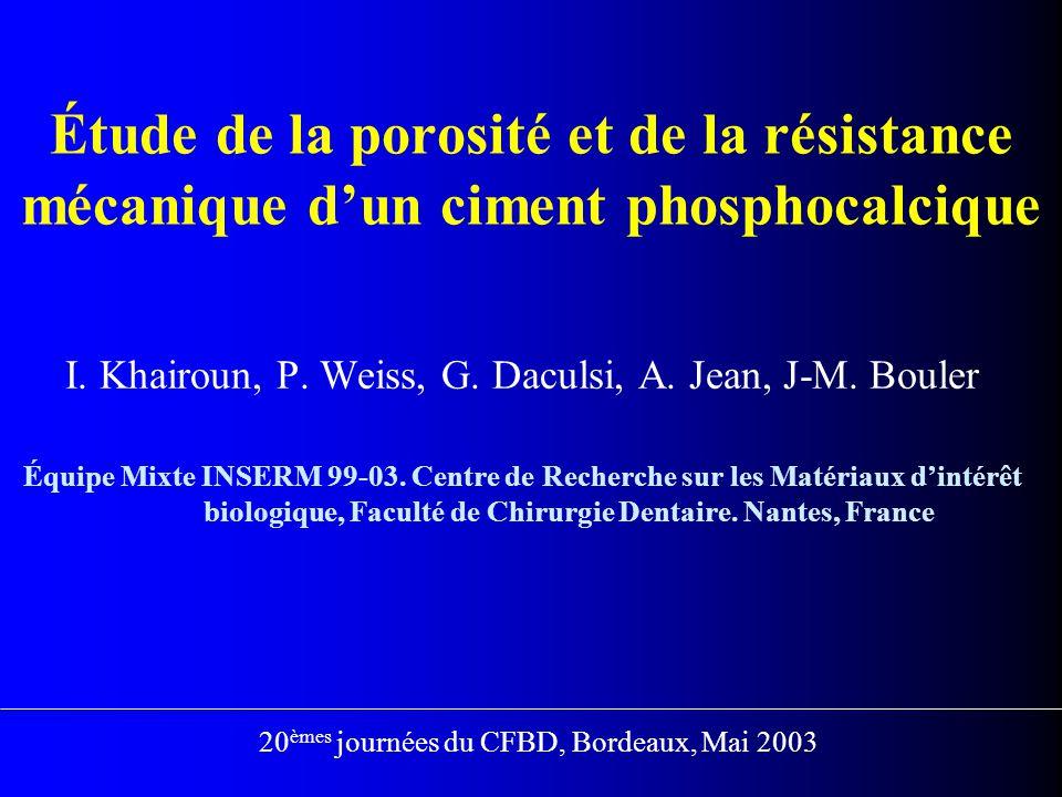 I. Khairoun, P. Weiss, G. Daculsi, A. Jean, J-M. Bouler
