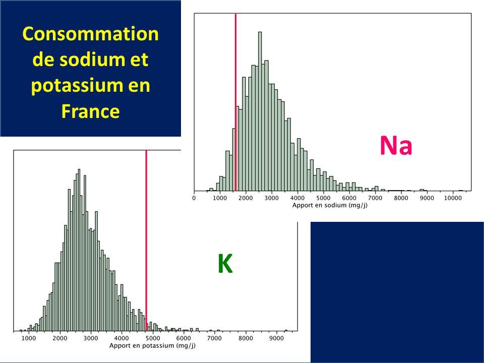 Consommation de sodium et potassium en France