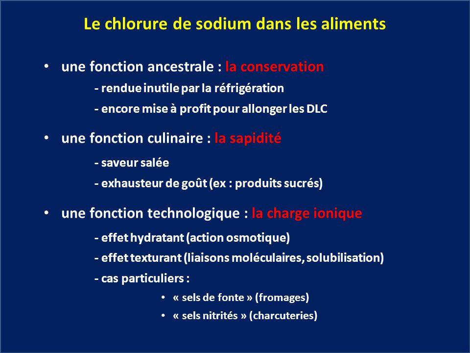 Le chlorure de sodium dans les aliments