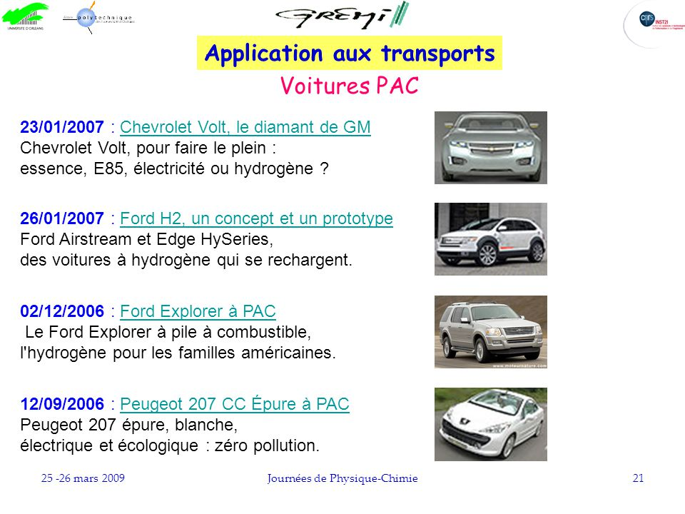 Application aux transports