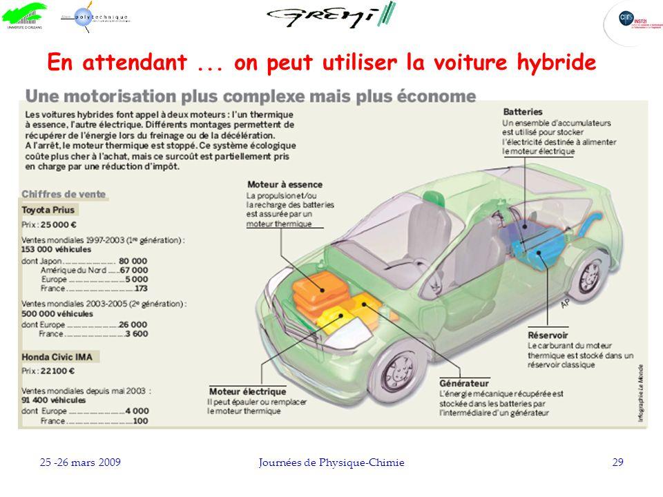 En attendant ... on peut utiliser la voiture hybride