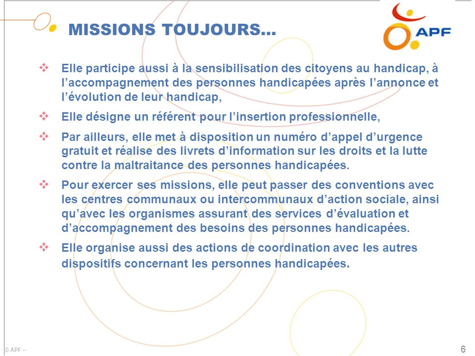 MISSIONS TOUJOURS…