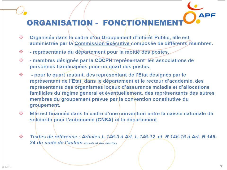 ORGANISATION - FONCTIONNEMENT