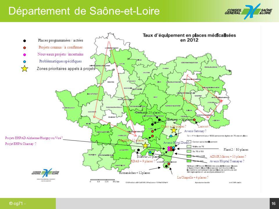 Avenir Satonay Places programmées / actées