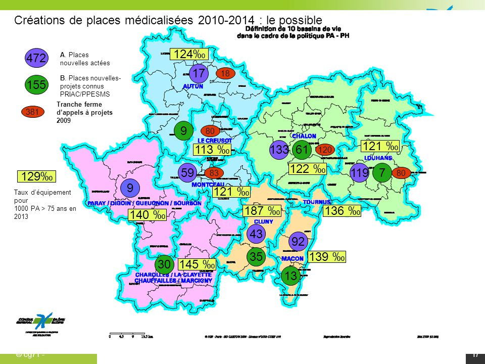 Créations de places médicalisées 2010-2014 : le possible