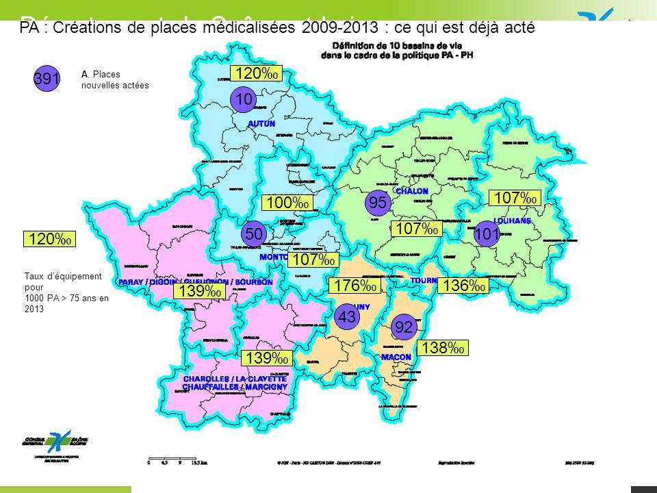 PA : Créations de places médicalisées 2009-2013 : ce qui est déjà acté