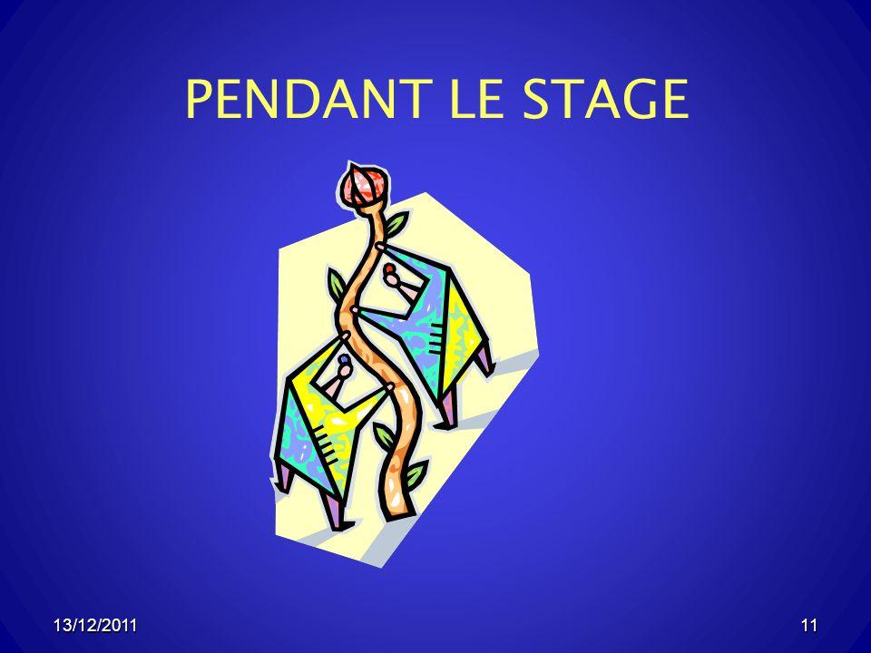 PENDANT LE STAGE 13/12/2011