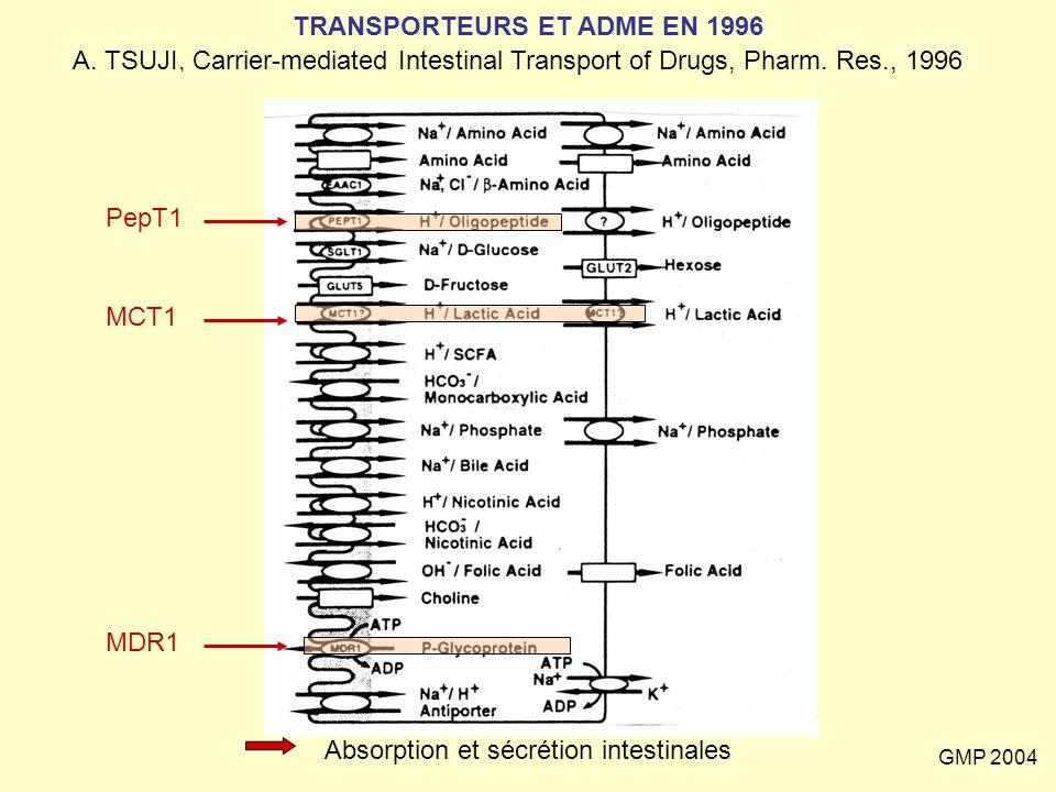 TRANSPORTEURS ET ADME EN 1996