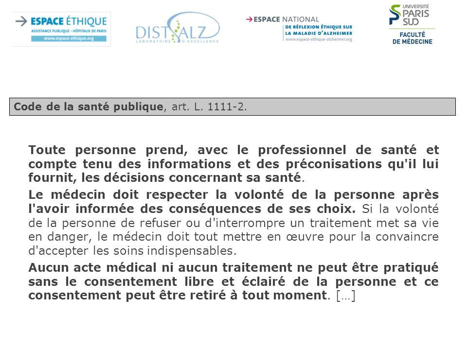 Code de la santé publique, art. L. 1111-2.