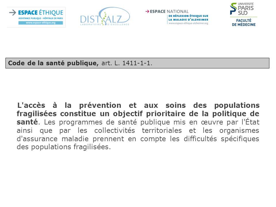 Code de la santé publique, art. L. 1411-1-1.