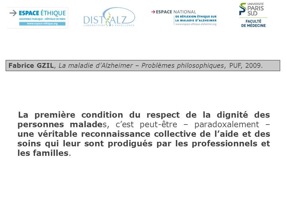 Fabrice GZIL, La maladie d'Alzheimer – Problèmes philosophiques, PUF, 2009.