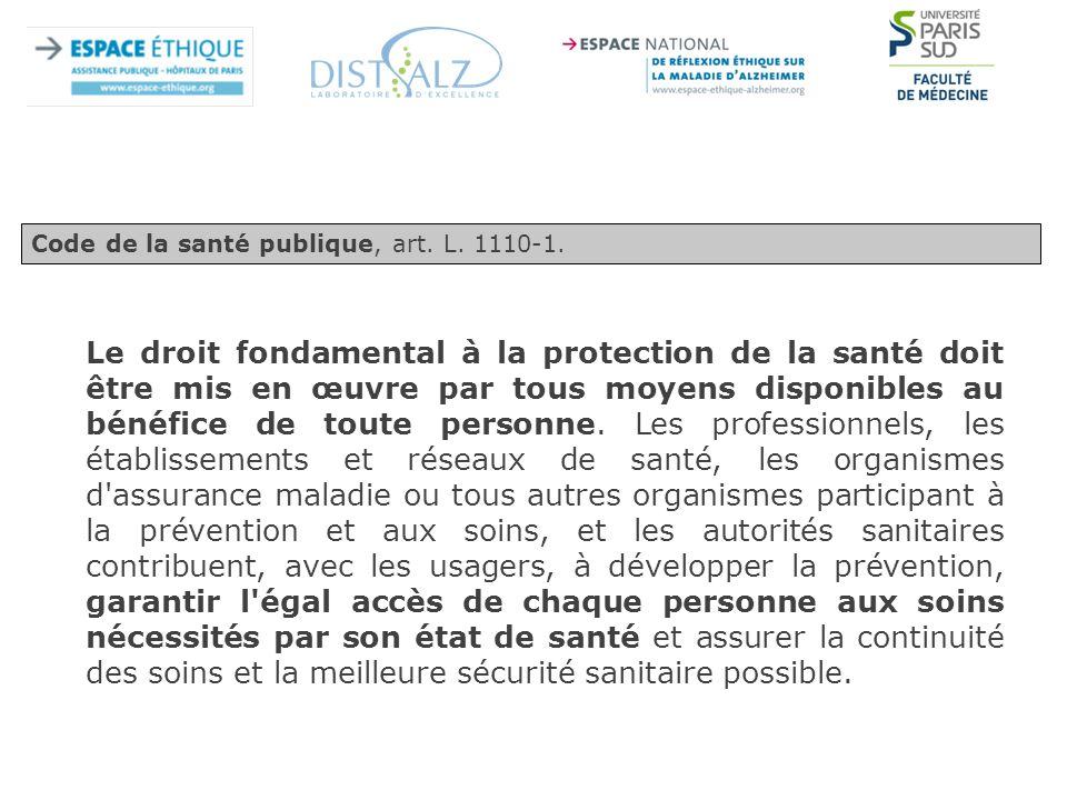 Code de la santé publique, art. L. 1110-1.