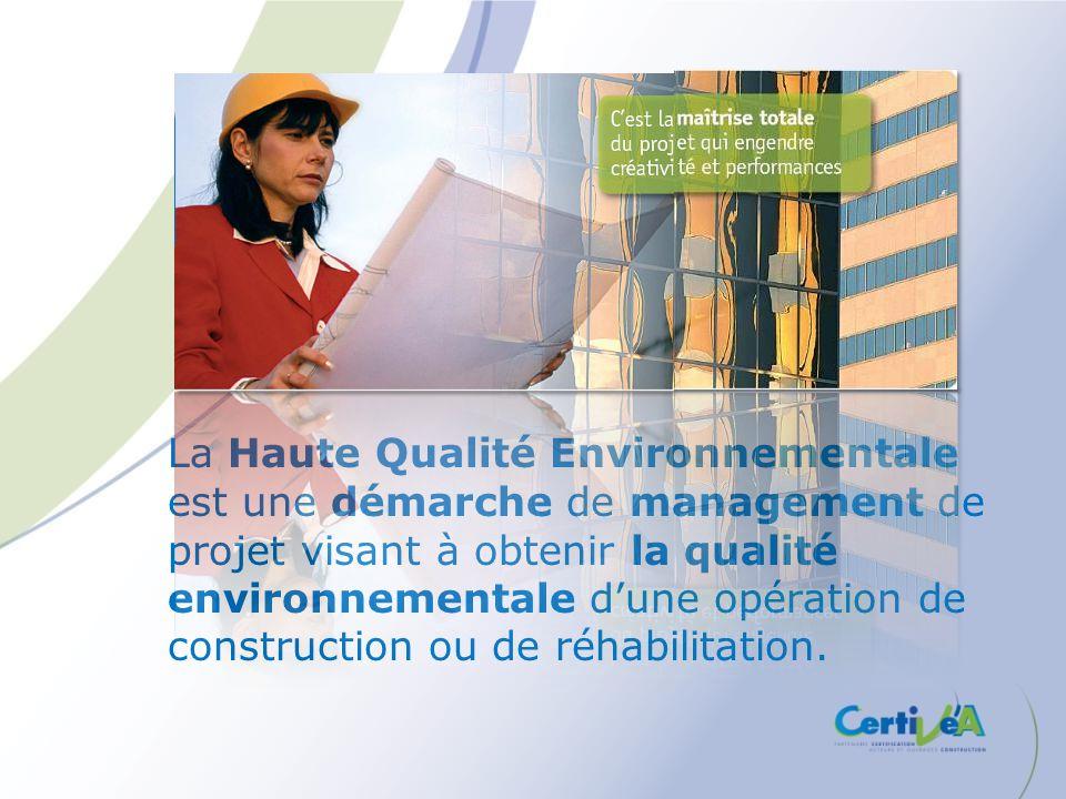 La Haute Qualité Environnementale est une démarche de management de projet visant à obtenir la qualité environnementale d'une opération de construction ou de réhabilitation.